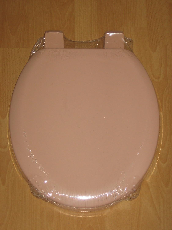 cream plastic toilet seat.  Rose Salmon Pink Toilet seat Amazon co uk Kitchen Home