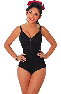Salome 0420 Womens Post C Section Shaper Bodysuit with Bra Fajas Colombianas