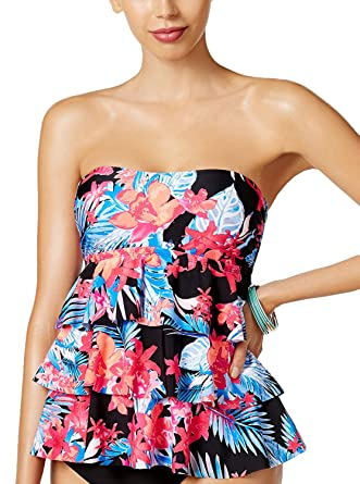 aa431f97a0b7e Island Escape Women's Montage Gardens Tiered Tankini Top at Amazon Women's  Clothing store: