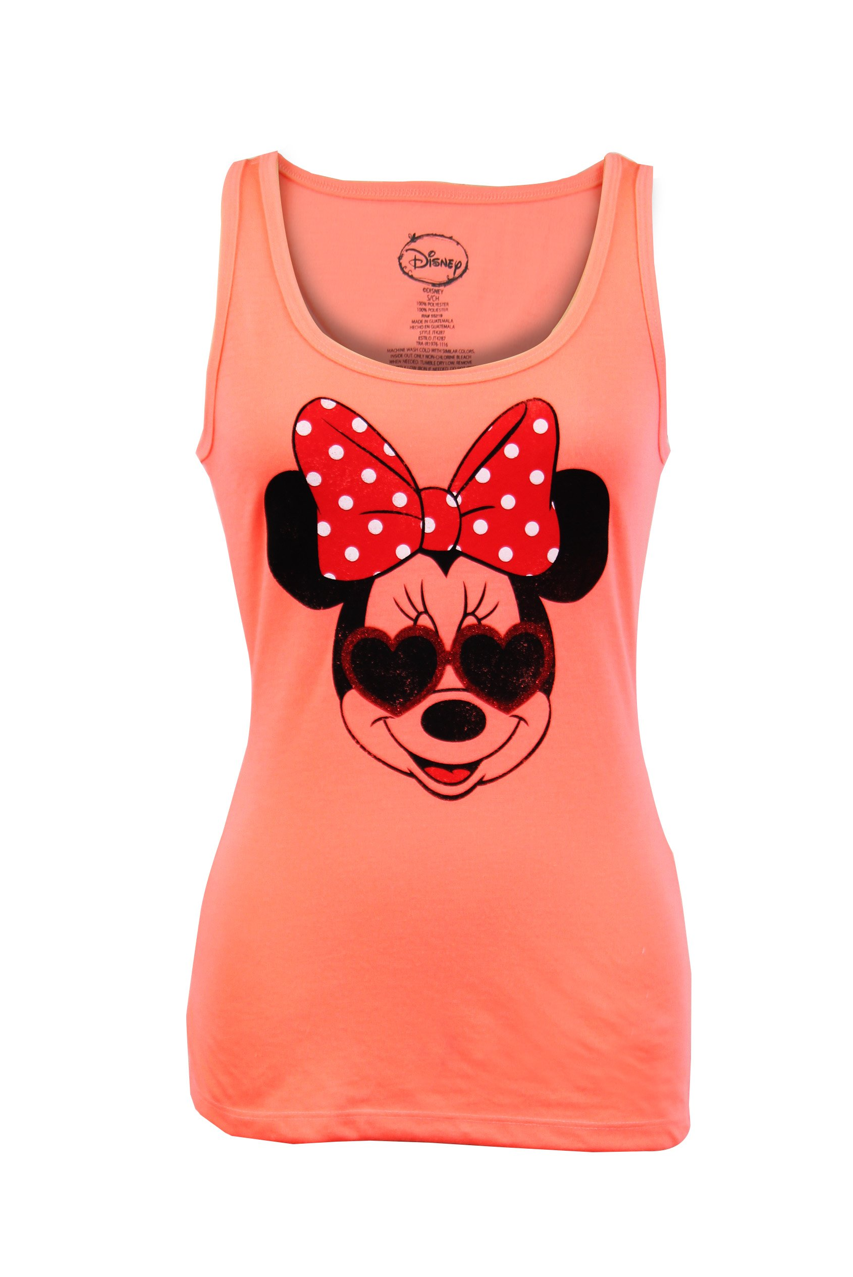 Minnie Mouse Face Basic Sleeveless Tank Top (X-Large) by City Disney