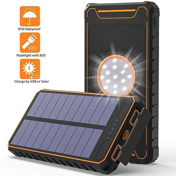 Amazon.com: Cargador solar HiGoing de 14000 mAh, cargador de ...