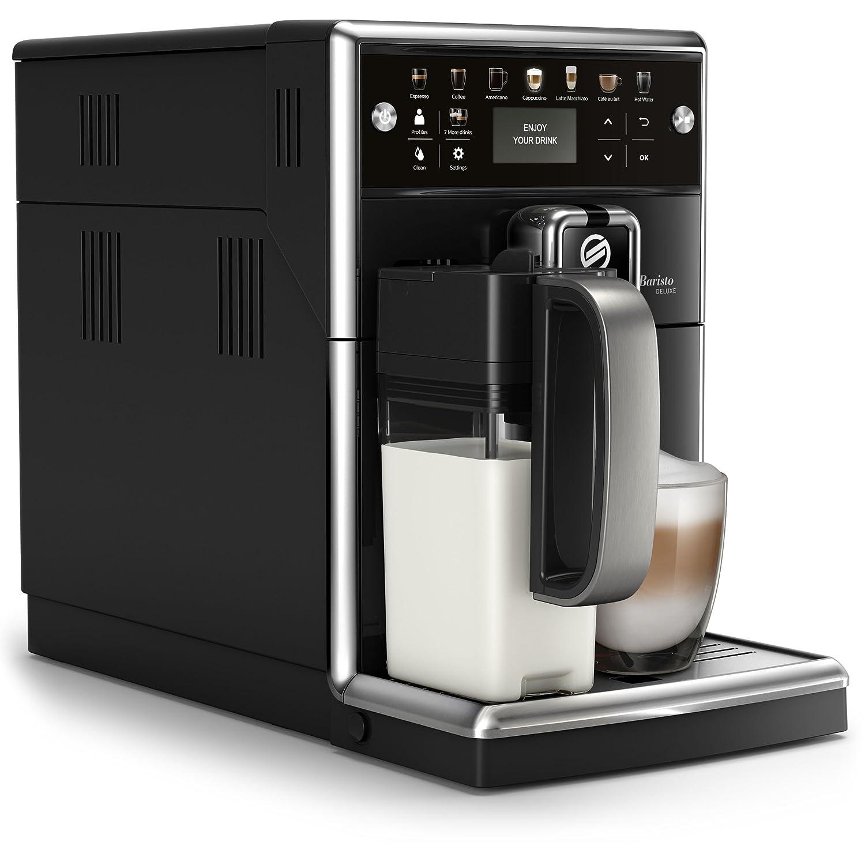 Philips Saeco PicoBaristo Deluxe SM5570/10 - Cafetera Súper Automática, 13 Bebidas de Café Personalizables, Jarra de Leche Integrada, Limpieza automatica, ...