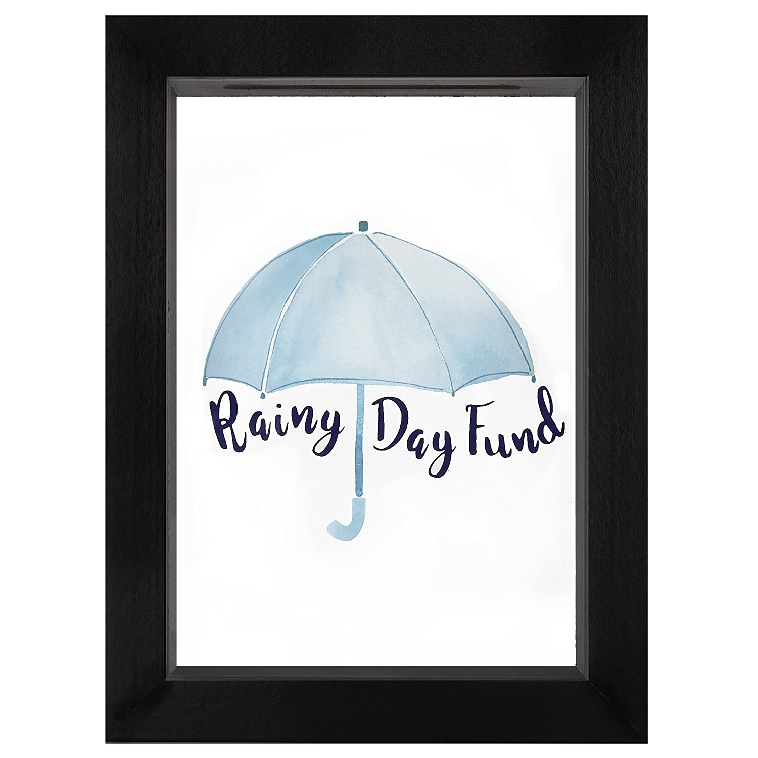 Americanflat Rainy Day Fund Decorative Shadow Box Frame, Glass Sized 5x7 Inches DSB0507RDF