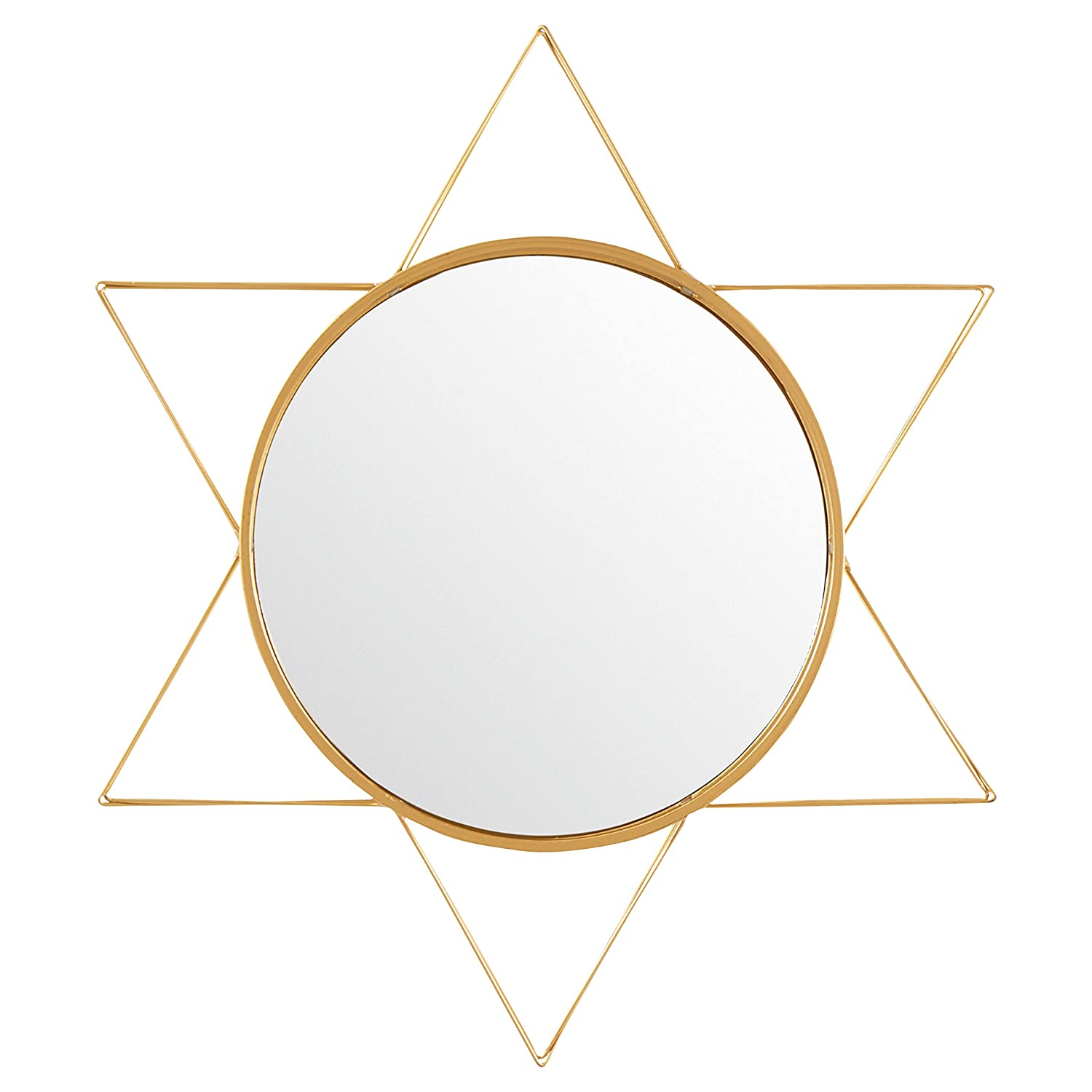 Rivet Modern 3-D Star Shaped Metal Mirror, 22.5