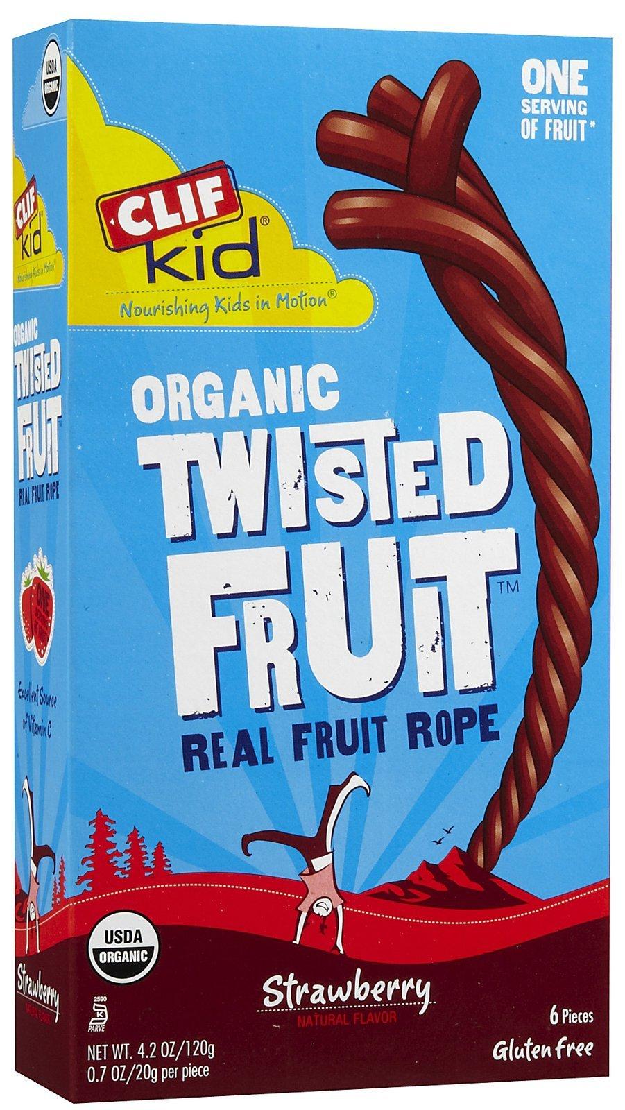 Clif Kid Organic ZFruit Rope Strawberry -- 6 Bars