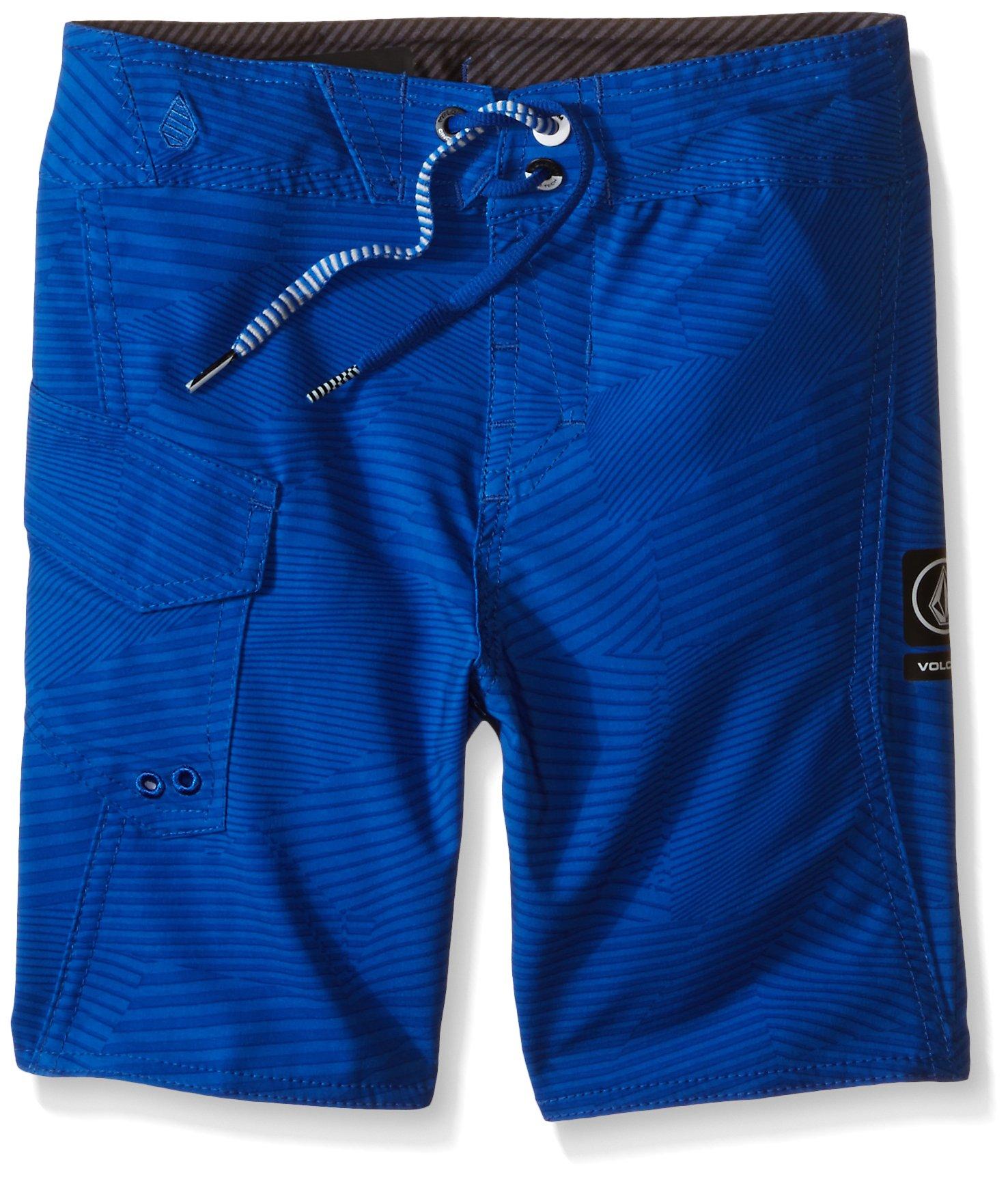 Volcom Little Boys' Stone Mod Boardshort, Estate Blue, 7X