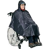 HeRo24 Poncho de lluvia para silla de ruedas, también para bicicleta o como protección contra la lluvia.