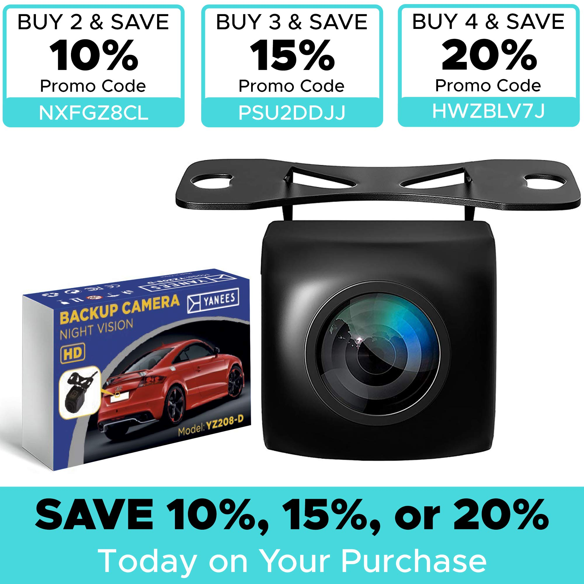 Backup Camera Night Vision - HD 1080p - Car Rear View Parking Camera - Best 170° Wide View Angel - Waterproof Reverse Auto Back Up Car Backing Camera - High Definition - Fits All Vehicles by Yanees by YANEES (Image #9)