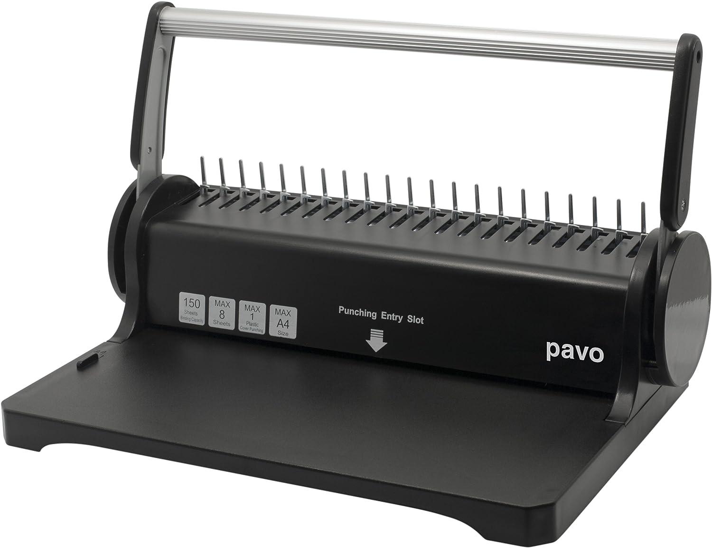 Pavo 8030903 Smartmaster 2 Bindemaschine, Bindegerät bis 150 Blatt, inklusive 75teiligem Starterset, schwarz