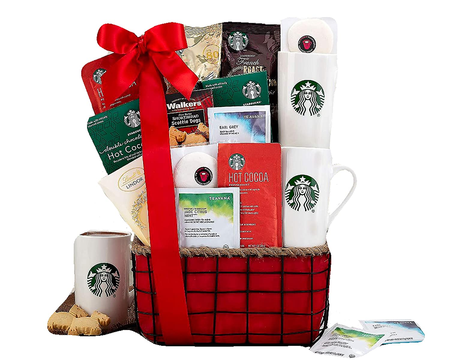 Amazon.com : Starbucks Coffee and Tazo Tea Gift Basket by Wine Country Gift Baskets : Gourmet Gift Items : Grocery & Gourmet Food