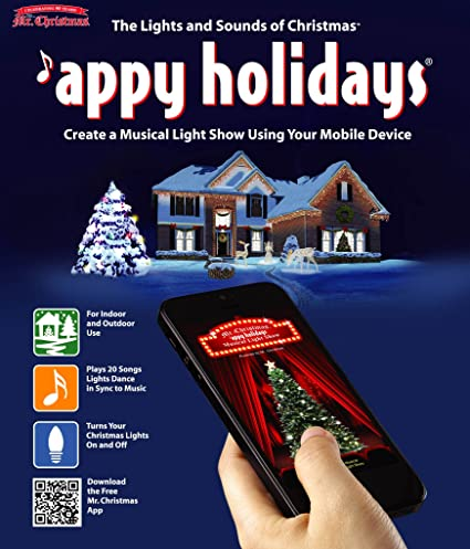 mr christmas musical light show indoor and outdoor controller smart phone appy holiday display