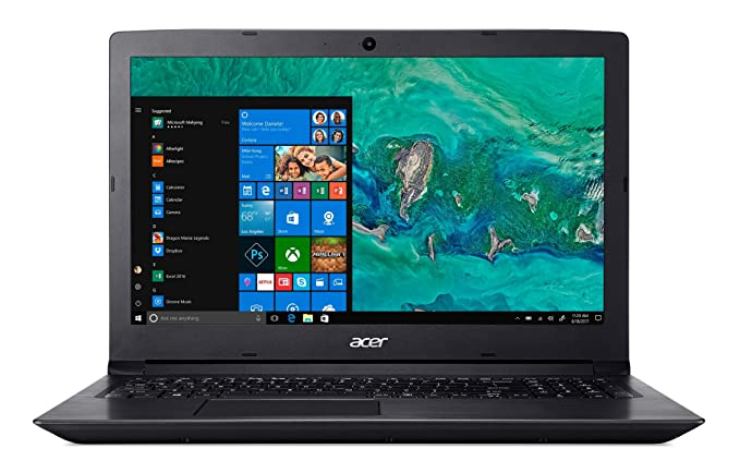 Acer Aspire 3 A315-41 15.6-inch Laptop (Ryzen 5/8GB/1TB/Windows 10 Home/Integrated Graphics), Obsidian Black Laptops