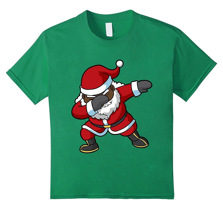 Amazon.com: Christmas Dabbing Black Santa Claus Shirt: Clothing