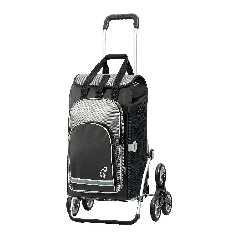 Andersen Carrello portaspesa Royal con borsa Hydro nera, capienza di 60 l, scomparto termico, telaio in alluminio e 6 ruote saliscale Andersen Shopper Manufaktur 169-036-80