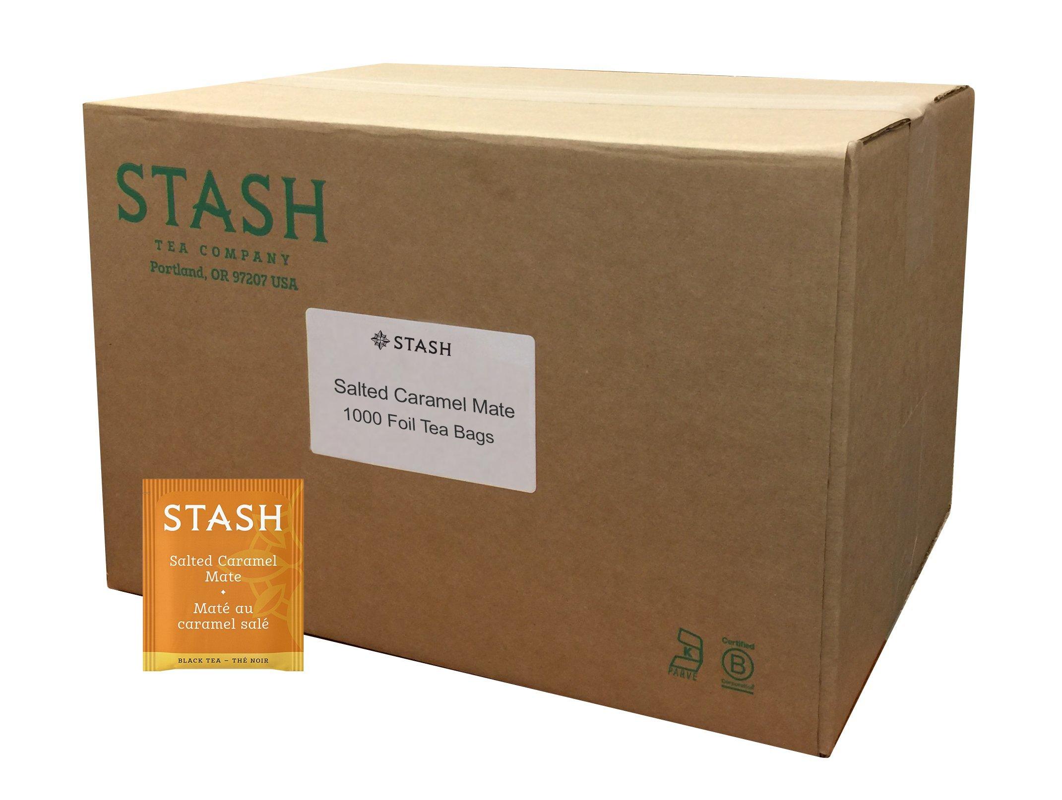 Stash Tea Salted Caramel Mate, Yerba Mate Tea, 1000 Count Box of Teabags in Foil by Stash Tea (Image #1)