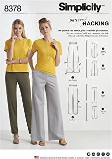 product image for Simplicity Pattern 8378 Misses' Knit Pants with Two Leg Widths and Options for Design Hacking Size (XXS - XXL)