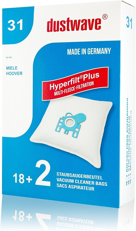 /20/Sacchetti per aspirapolvere adatto per Miele Parkett /& Co Mega Pack/ con micro filtro 4000/Aspirapolvere//Wave marchi Sacchetti per aspirapolvere//Made In Germany