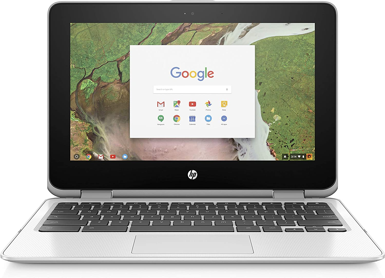 "HP 11-ae051wm 11.6"" X360 Touchscreen Chromebook - Intel Celeron N3350 1.1GHz 4GB RAM 64GB eMMC Snow White (Renewed)"
