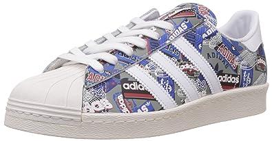 sports shoes 087c1 40f87 adidas Originals Men s Superstar 80S Pioneers NIGO White and Cream White  Leather Sneakers - 11 UK