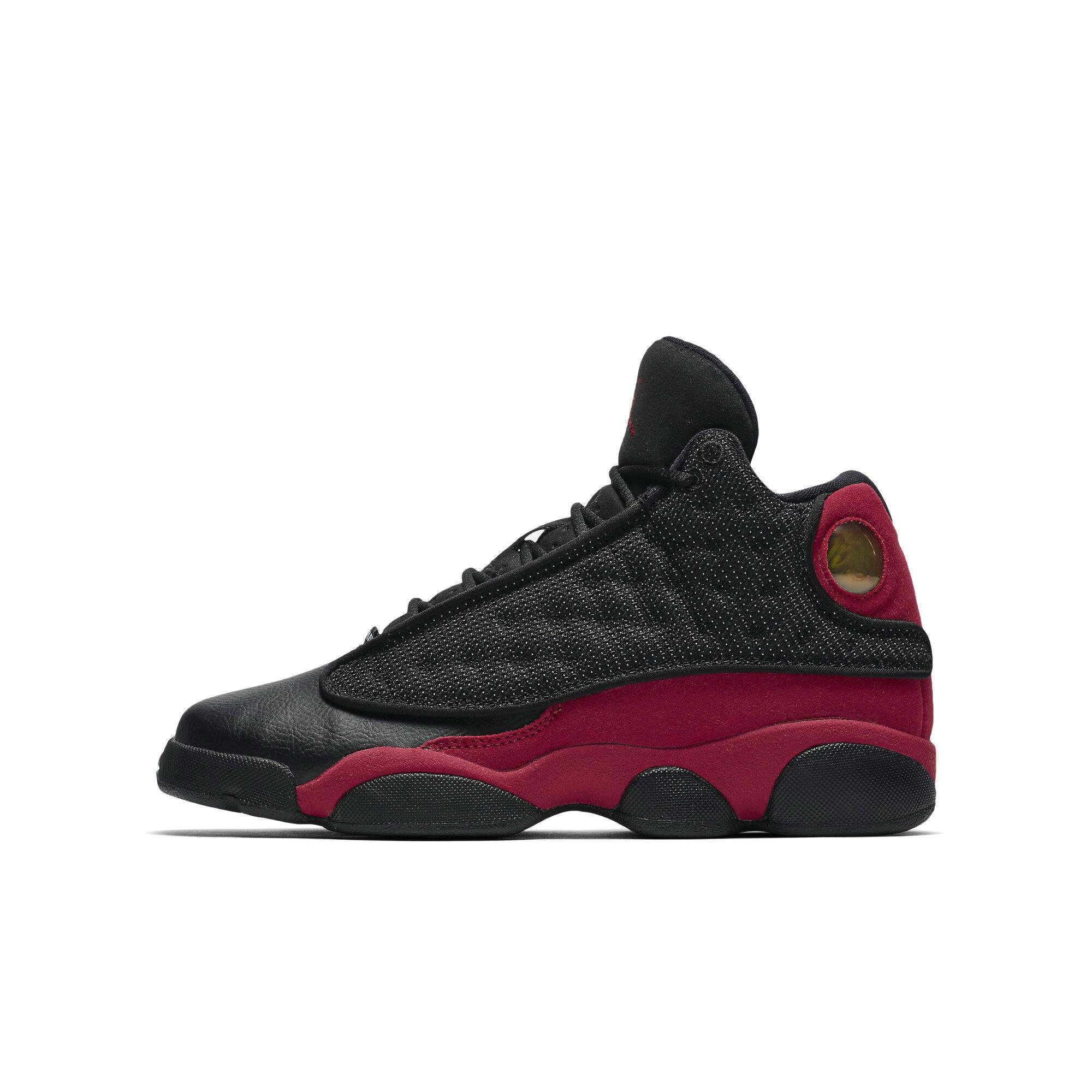 Jordan Retro 13 Bred Black/True Red-White (Big Kid) (6.5 M US Big Kid) by Jordan
