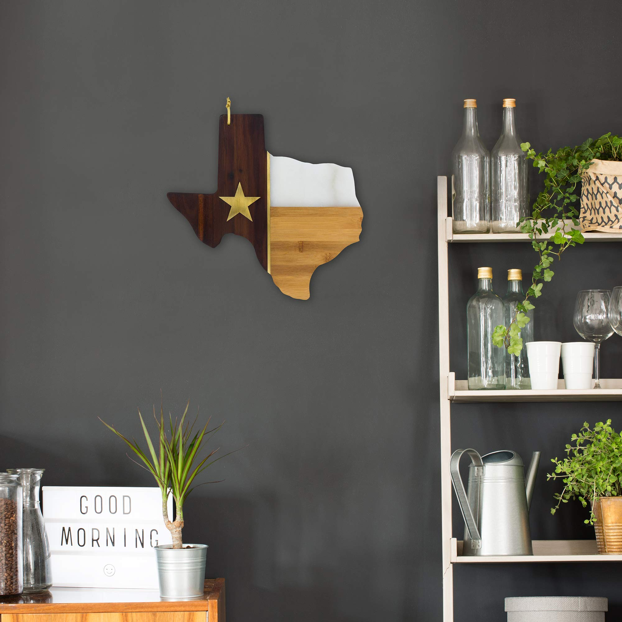 Totally Bamboo Rock & Branch Series Republic of Texas State Shaped Serving Board by Totally Bamboo (Image #5)