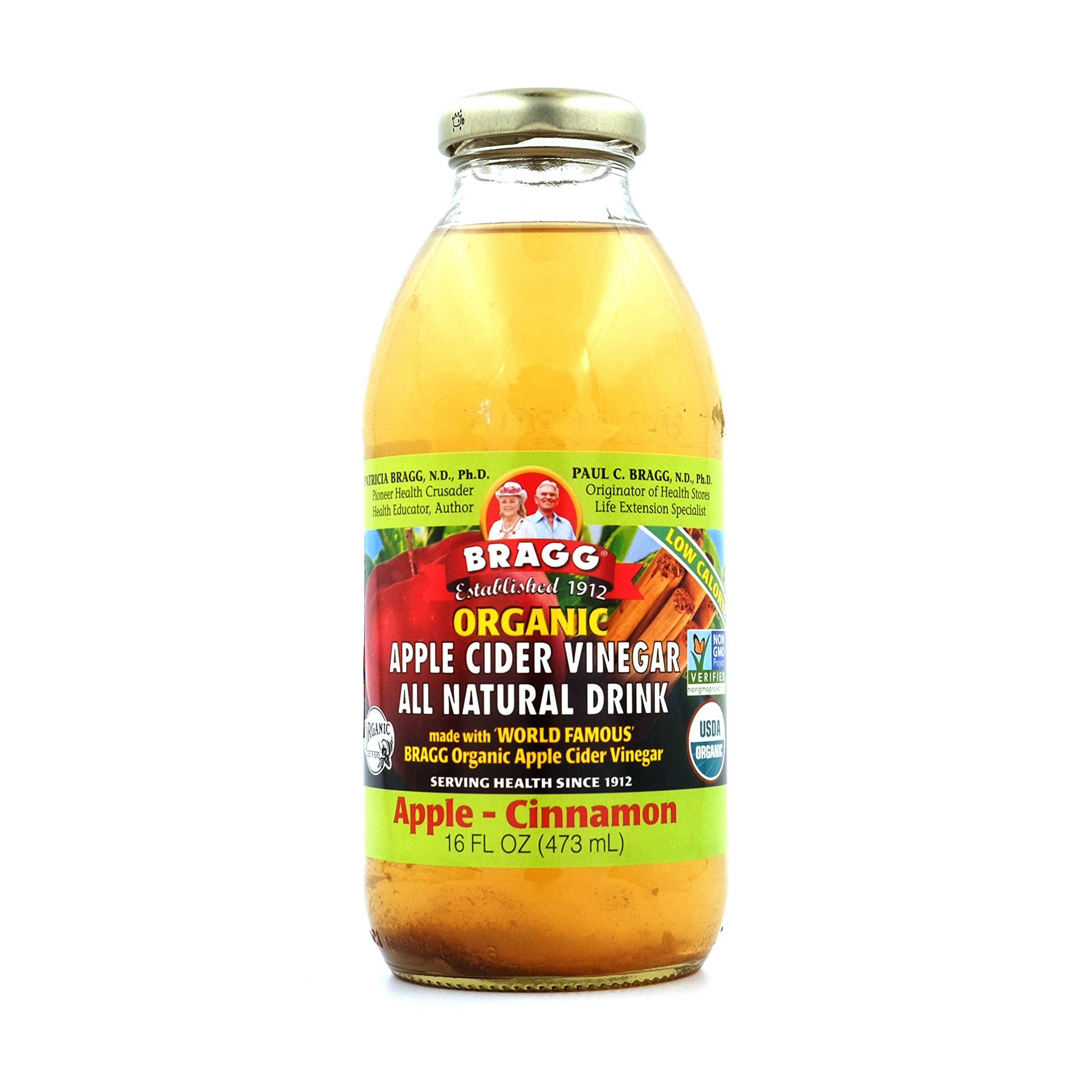 Bragg Apple Cider Vinegar Drink, Apple & Cinnamon, 16-ounces (Pack of6) by Bragg