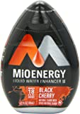 MiO Energy Liquid Water Enhancer, Black Cherry, 1.62 Fluid Ounce (Pack of 12)
