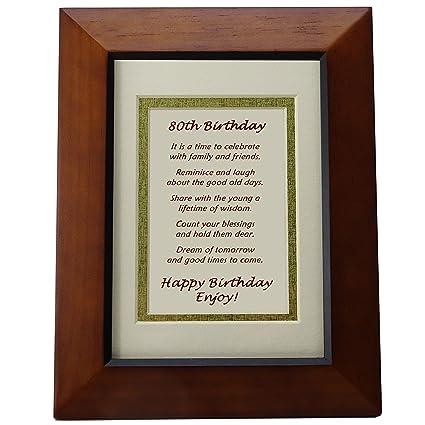 Amazon.com - Happy 80th Birthday Toast Poem for 80th Birthday Party ...