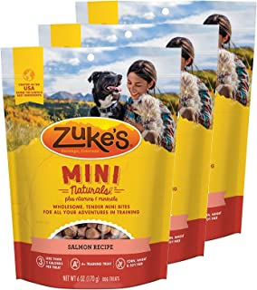 product image for Zuke's Mini Naturals Dog Treats Salmon Recipe 6 oz 3 Pack