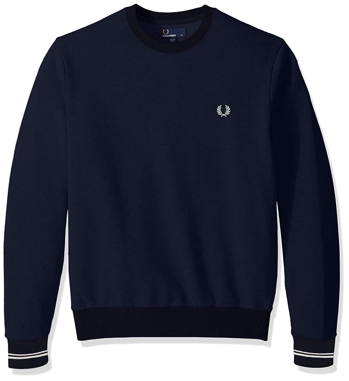 308a91f98a6 Amazon.com: Fred Perry Men's Crew Neck Sweat: Clothing