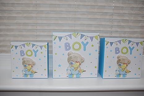 Baby Boy caja de regalo recuerdo, bautizo, Baby Shower, recién ...