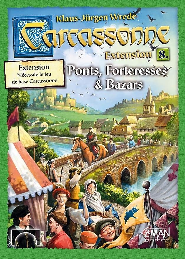 Asmodee Carcassonne - 09 - Ponts, Forteresses et Bazars (Extension 8)-FR-: Amazon.es: Juguetes y juegos