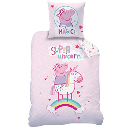 Peppa Pig Super Unicorn Bedding For Girls And Children Unicorn And