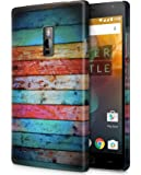Case U OnePlus 2 Case/Back Cover + Free Tempered Glass (Weathered Wood)