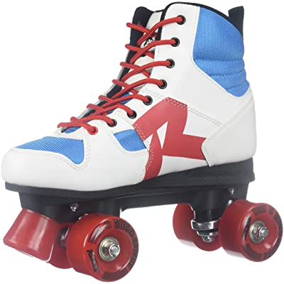 Roces Unisex Disco Palace Fitness Quad Skates Roller Skate Red/White/Mint 550039 : Sports & Outdoors