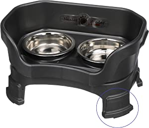 Neater Feeder Deluxe Elevated Feeder with Leg Extensions - Raised Bowls for Cats - No Mess Water & Food Bowls