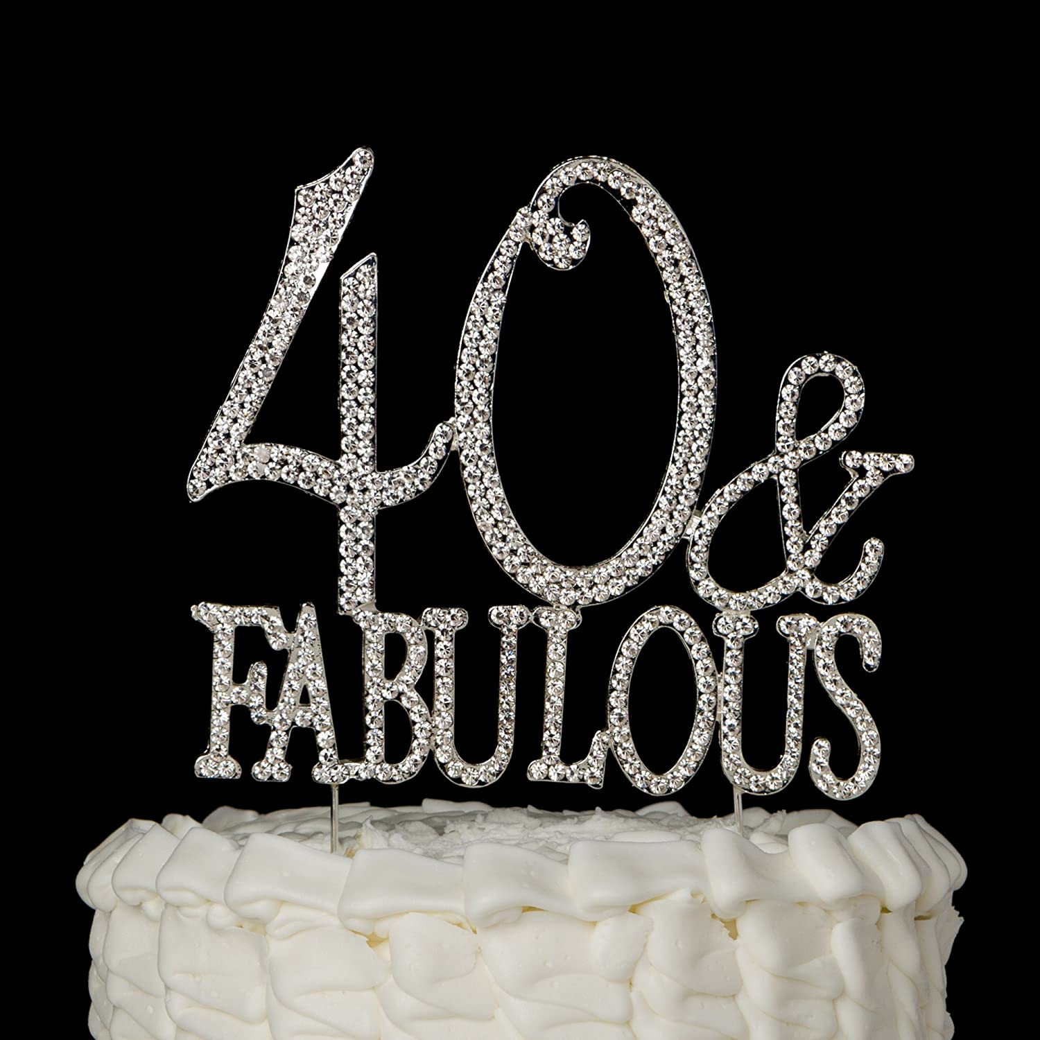 Amazoncom Ella Celebration 40 Fabulous Cake Topper for 40th