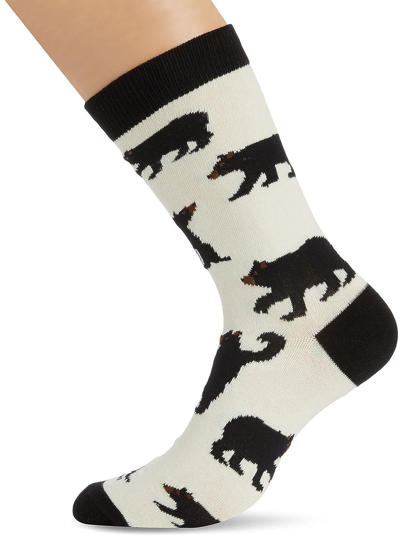 Hatley Little Blue House Mens Crew Socks - Black Bears One Size SOAWIBE247