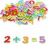 Tidlo Wooden Magnetic Numbers and Symbols (100 Pieces)