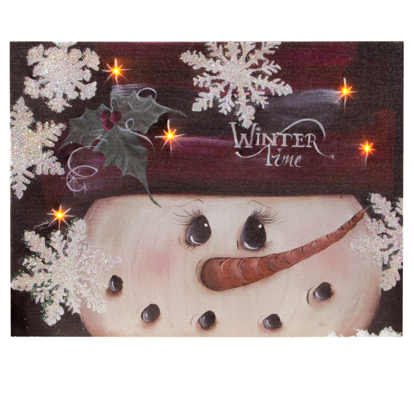 Ohio Wholesale Winter Time Canvas Radiance Lighted Wall Art X46490