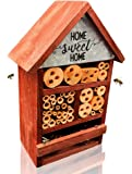 NatureZ Edge Insect House, Bee Hive, Mason Bee House, Give Your Live Ladybugs or Lacewigs a Place to Live, Attract…