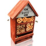 NatureZ Edge Eco Friendly Bee Hive, Mason Bee House, Give Your Live Ladybugs or Lacewigs a Place to Live, Attract Beneficial