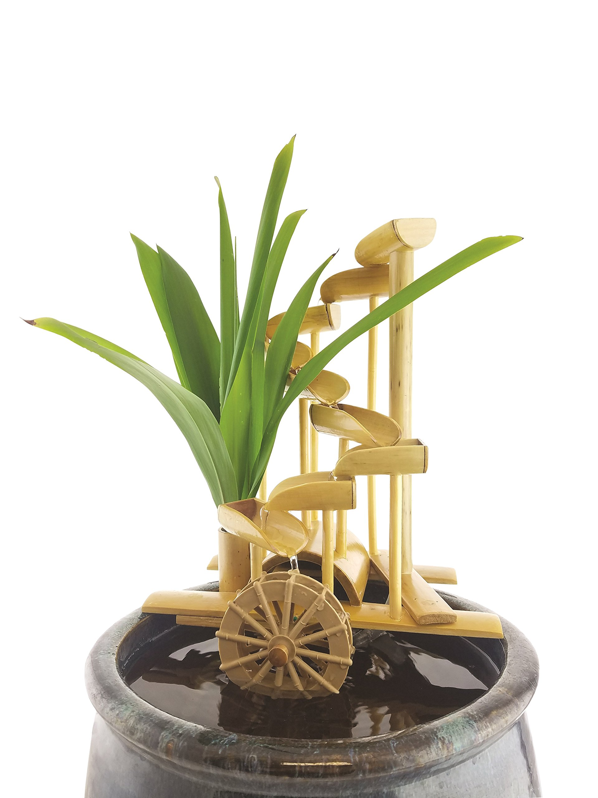 Lifegard Aquatics R440856 Bamboo Money Fountain-Complete with Pump and Tubing, 12'', Brown