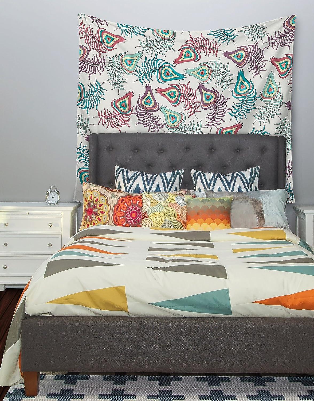 Kess InHouse Pom Graphic Design Wind Day White Black Wall Tapestry 51 X 60
