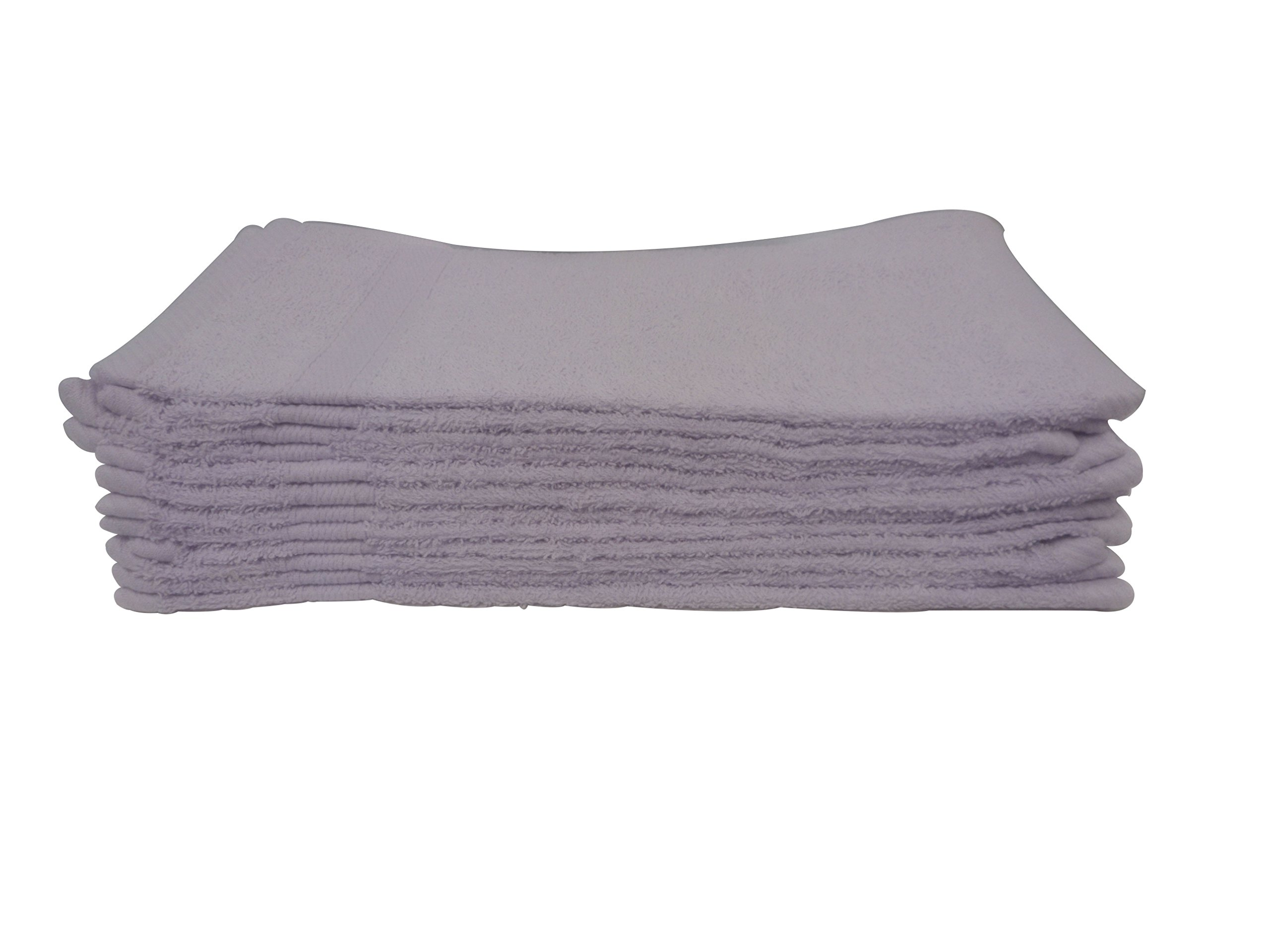 Luxurious Ultra Soft 100Percent Genuine Cotton 13''X13'' Wash Cloth -Highly Absorbent Multi-Purpose Extra Soft Baby, Face, Hand, Gym Spa Towels.Lavender/Purple,12Pcs-Pack
