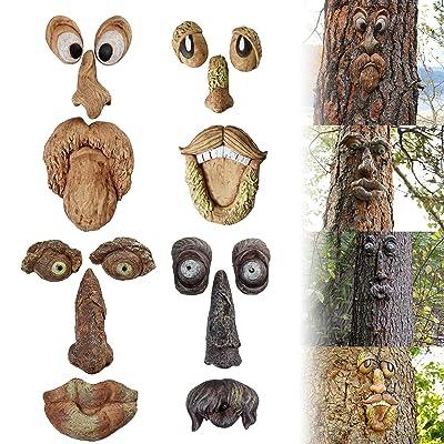 Old Man Bark Ghost Tree Hugger Face Facial Features Decor Bird Feeder Funny Prop
