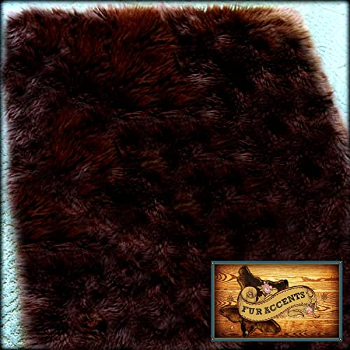 Fur Accents Classic Rectangle Sheepskin Area Rug Plush Faux Fur 5'x7'