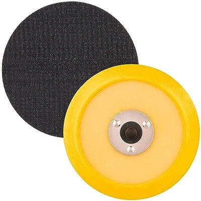 "TCP Global 5"" DA Polisher & Sander Pad - Hook & Loop Face - Random Orbital Backing Plate: Automotive"