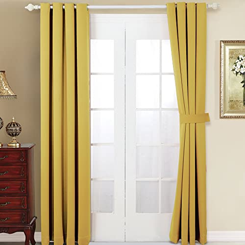 Home Soft Things Serenta 4 Piece Grommet Darkening Thermal Insulated Blackout Window Panel Curtain Set