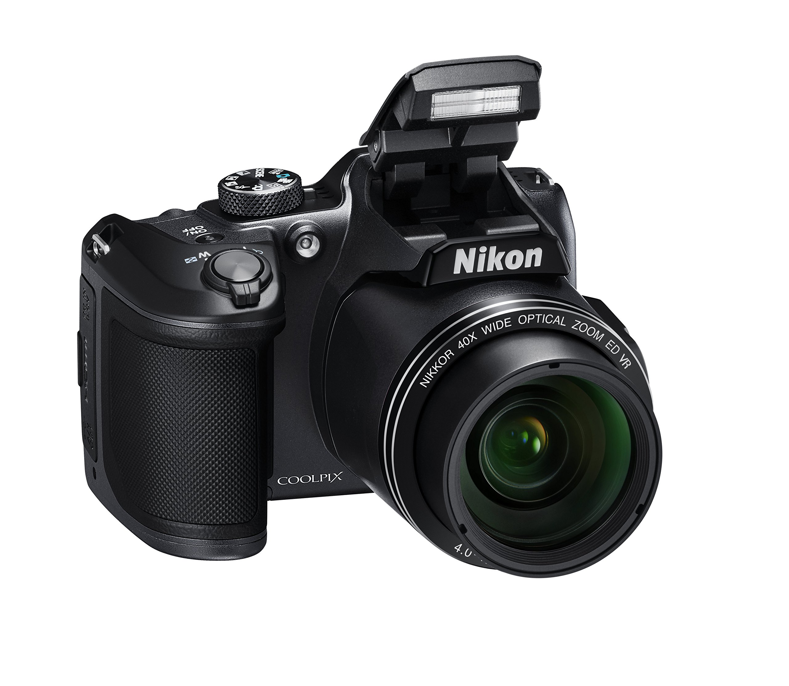 "Nikon Coolpix B500 Fotocamera Digitale Compatta, 16 Megapixel, Zoom 40x, VR, LCD Inclinabile 3"", Full HD, Bluetooth, Wi-Fi, Nero [Nital Card: 4 Anni di Garanzia] product image"